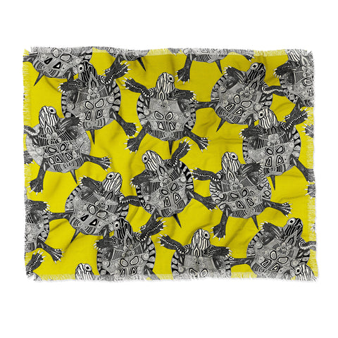 Sharon Turner Throw Blanket Deny Designs Cool Citron Throw Blanket