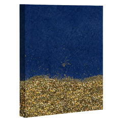 Social Proper Dipped in Gold Navy Art Canvas