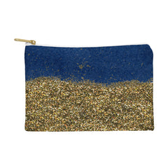 Social Proper Dipped in Gold Navy Pouch