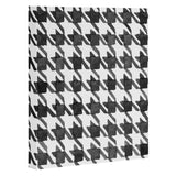Social Proper Houndstooth BW Art Canvas