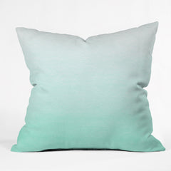 Social Proper Mint Ombre Outdoor Throw Pillow