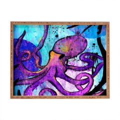 Sophia Buddenhagen Purple Octopus Rectangular Tray