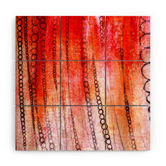 Sophia Buddenhagen Red Stain Wood Wall Mural