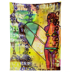 Sophia Buddenhagen Surfer Girl Tapestry