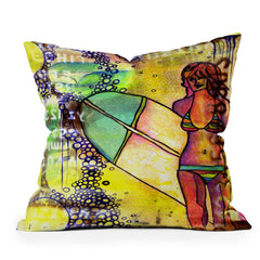 Sophia Buddenhagen Surfer Girl Throw Pillow