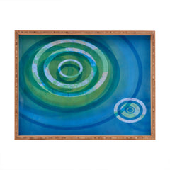 Stacey Schultz Circle Maps Blue Green Rectangular Tray