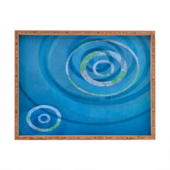 Stacey Schultz Circle Maps Blue Navy Rectangular Tray