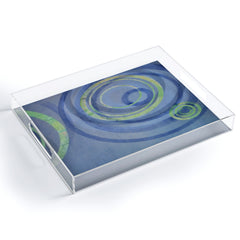 Stacey Schultz Circle Maps Royal Blue 2 Acrylic Tray