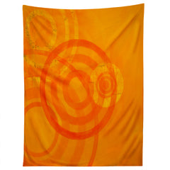 Stacey Schultz Circle World Tangerine Tapestry