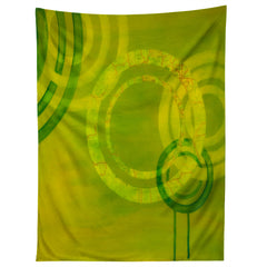 Stacey Schultz Circle World Yellow Tapestry
