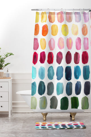 Stephanie Corfee Color Palette Shower Curtain And Mat