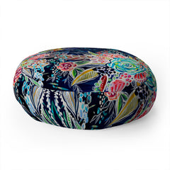 Stephanie Corfee Night Bloomers Floor Pillow Round