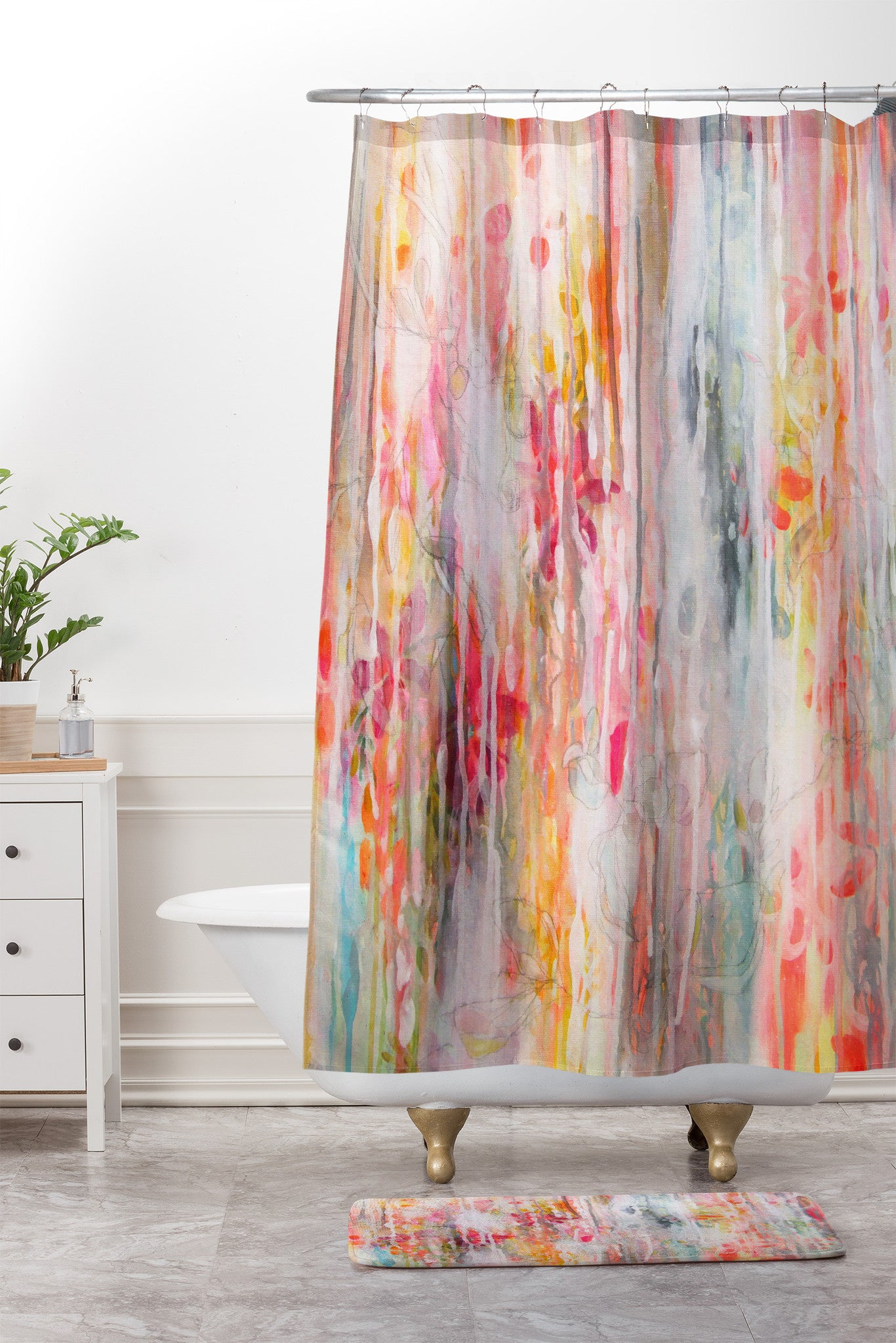 Sparkling Water Shower Curtain And Mat Stephanie Corfee
