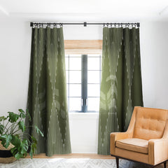 Summer Sun Home Art Geo Olive Green Blackout Non Repeat