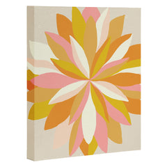 SunshineCanteen dahlia bloom Art Canvas
