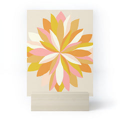 SunshineCanteen dahlia bloom Mini Art Print