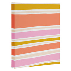SunshineCanteen del mar stripes Art Canvas