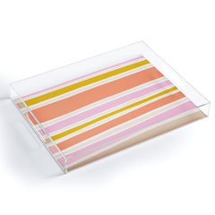 SunshineCanteen del mar stripes Acrylic Tray