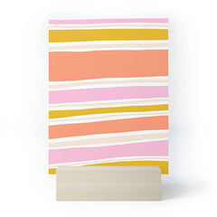 SunshineCanteen del mar stripes Mini Art Print