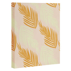 SunshineCanteen faded pink palms Art Canvas