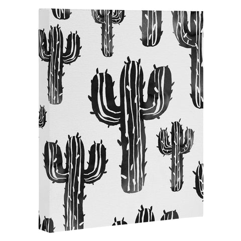 At Cactus Party Desert Matcha Black And White Art Products Deny Designs