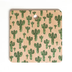 Susanne Kasielke Cactus Party Desert Matcha Cutting Board Square