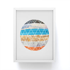 Terry Fan Geodesic Framed Mini Art Print
