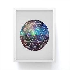 Terry Fan Space Geodesic Framed Mini Art Print