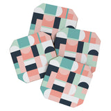 The Old Art Studio Abstract Geometric 08 Coaster Set