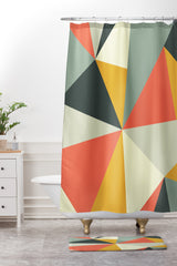 The Old Art Studio Mid Century 01 Shower Curtain And Mat