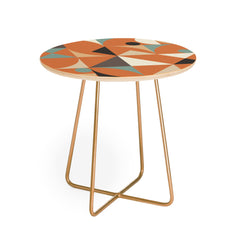 The Old Art Studio Mid Century 7D Round Side Table