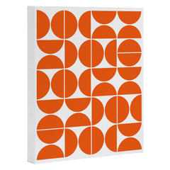 The Old Art Studio Mid Century Modern 04 Orange Art Canvas
