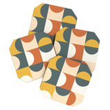 The Old Art Studio Mid Century Modern Geometric 23 Coaster Set
