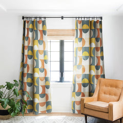 The Old Art Studio Mid Century Modern Geometric 23 Blackout Window Curtain