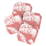 The Old Art Studio Pink Palm Coaster Set