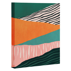 Viviana Gonzalez Modern irregular Stripes 02 Art Canvas