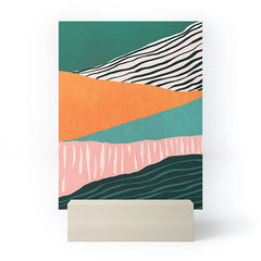 Viviana Gonzalez Modern irregular Stripes 02 Mini Art Print