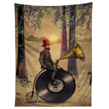 Viviana Gonzalez Music man in the forest Tapestry