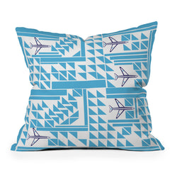 Vy La Airplanes And Triangles Throw Pillow