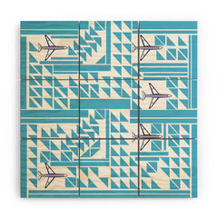 Vy La Airplanes And Triangles Wood Wall Mural