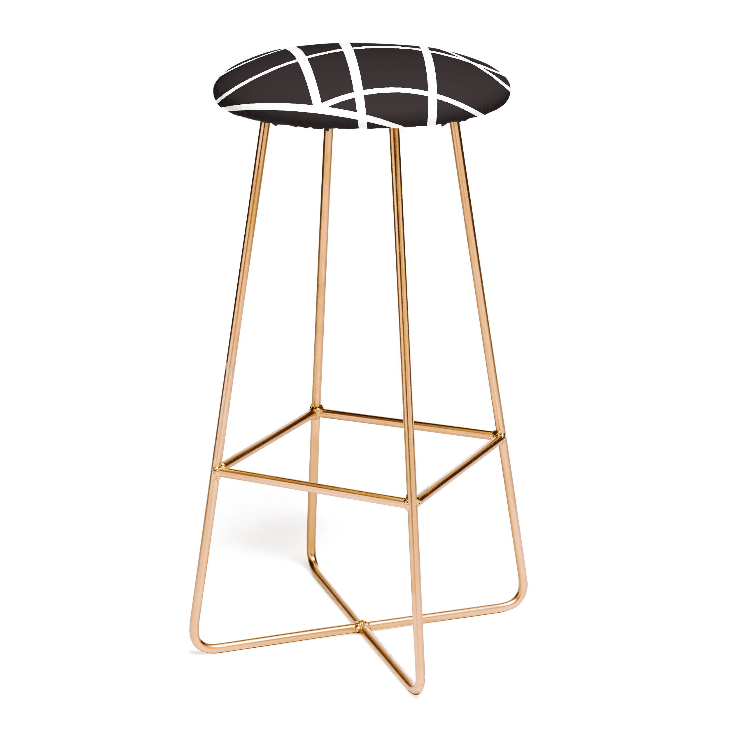 Vy La Black and White Lines Bar Stool