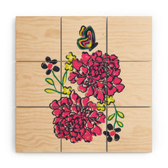 Vy La Budding Love Wood Wall Mural