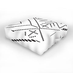Vy La Cross Diamond Black Outdoor Floor Cushion