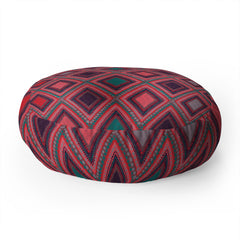 Vy La Eastern Diamond Floor Pillow Round