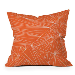 Vy La Tech It Out Orange Throw Pillow