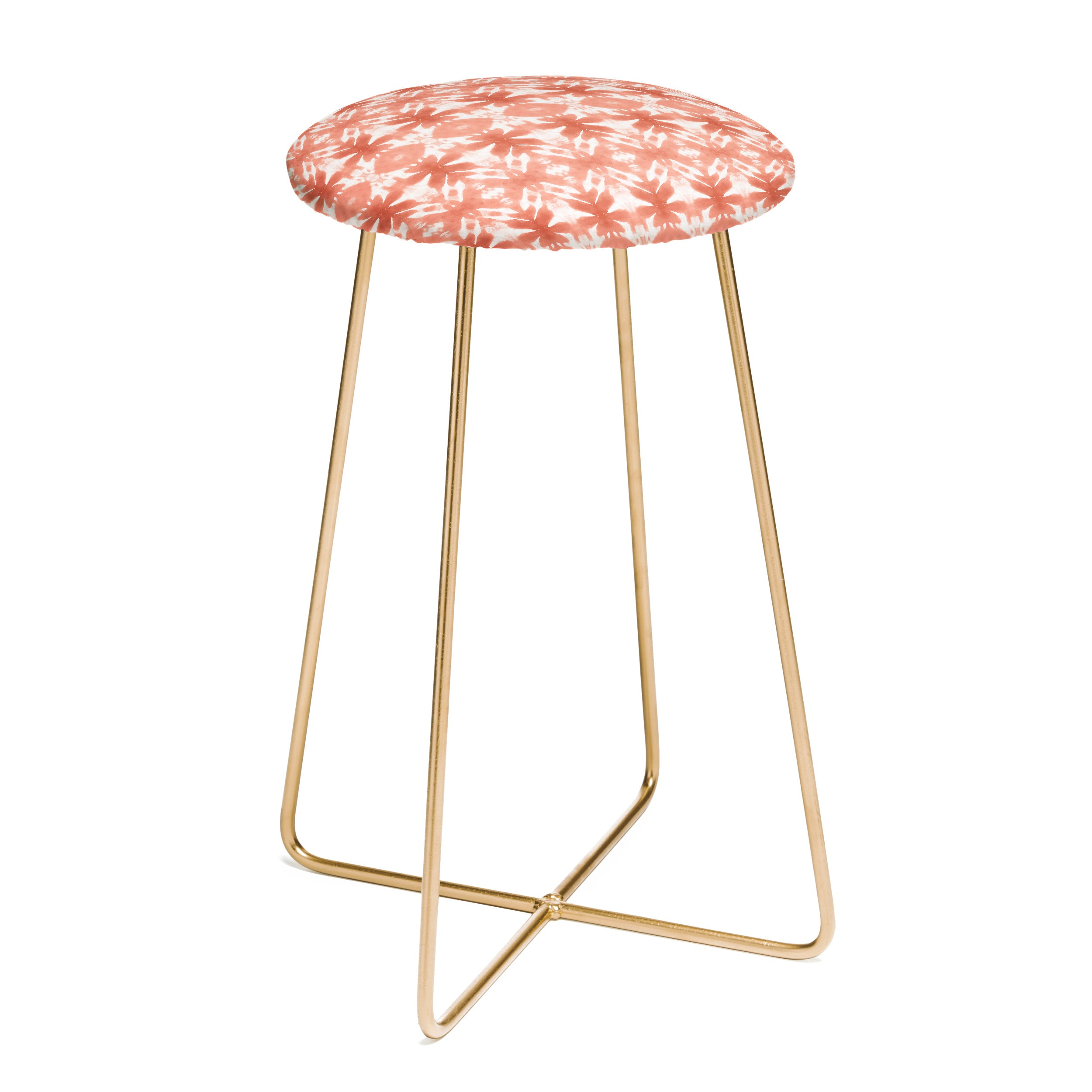 Wagner Campelo SHIBORI TRIBAL ROSE Counter Stool