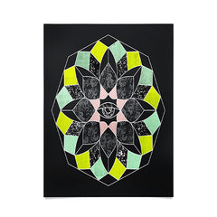 Wesley Bird Cosmic Flower Poster