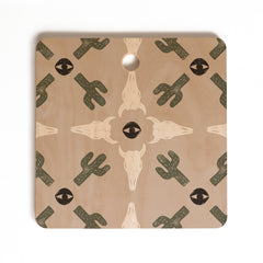 Wesley Bird Dry Desert Cutting Board Square