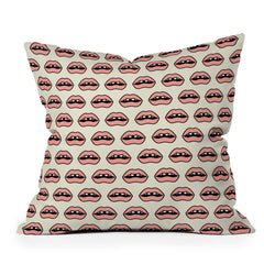 Wesley Bird Gap Tooth Girl Throw Pillow
