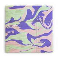 Wesley Bird Hypnotic Camo Wood Wall Mural